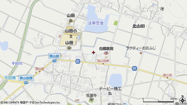 〒679-2115 兵庫県姫路市山田町西山田の地図