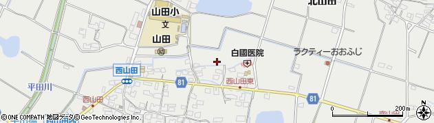兵庫県姫路市山田町(西山田)周辺の地図