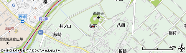 愛知県安城市東端町(寺下)周辺の地図