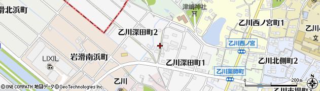愛知県半田市乙川深田町周辺の地図