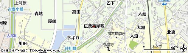 愛知県岡崎市若松町(伝兵衛屋敷)周辺の地図