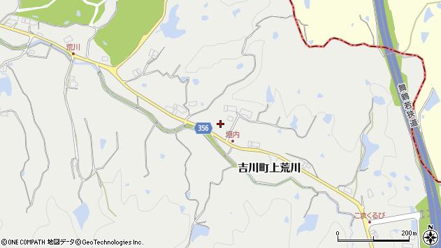 〒673-1111 兵庫県三木市吉川町上荒川の地図