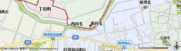愛知県知多郡阿久比町植大東向毛周辺の地図