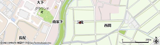 愛知県安城市城ケ入町(三度)周辺の地図