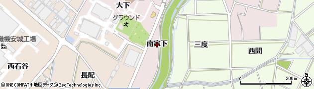 愛知県安城市和泉町(南家下)周辺の地図