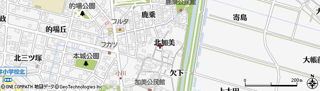 愛知県安城市小川町(北加美)周辺の地図