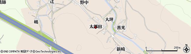 愛知県岡崎市鹿勝川町(太郎田)周辺の地図