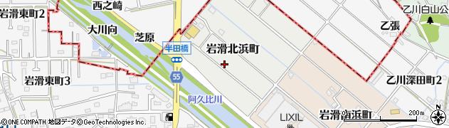 愛知県半田市岩滑北浜町周辺の地図