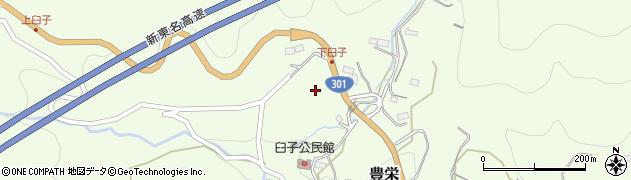 愛知県新城市豊栄(城山)周辺の地図