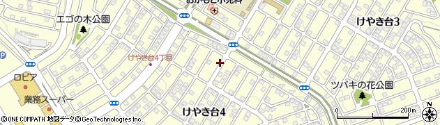 兵庫県三田市けやき台周辺の地図