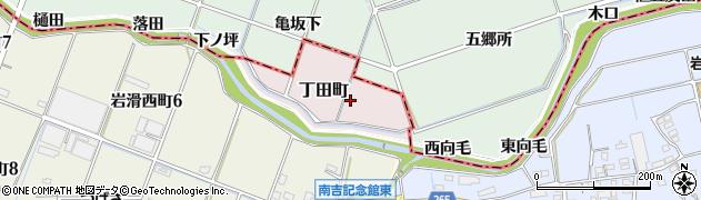 愛知県半田市丁田町周辺の地図