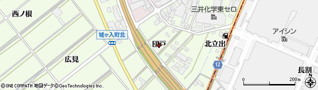 愛知県安城市城ケ入町(団戸)周辺の地図