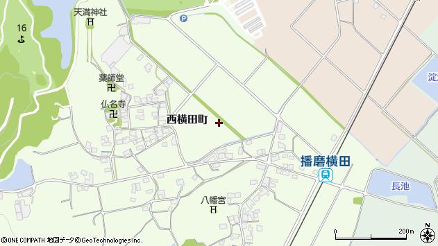 〒675-2335 兵庫県加西市西横田町の地図