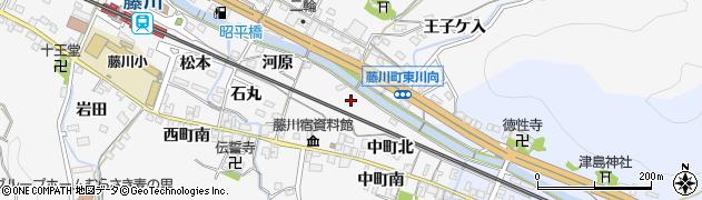 愛知県岡崎市藤川町(家下)周辺の地図