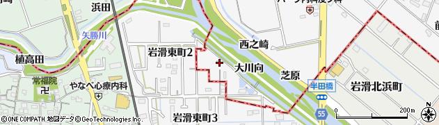 愛知県知多郡阿久比町横松大川向周辺の地図