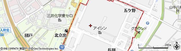 愛知県西尾市南中根町(小割)周辺の地図