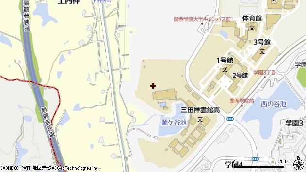 〒669-1337 兵庫県三田市学園の地図