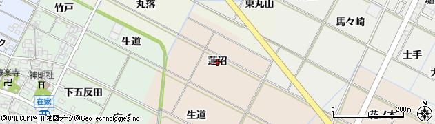 愛知県岡崎市下和田町(蓮沼)周辺の地図