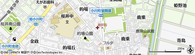 愛知県安城市小川町(堂開道)周辺の地図