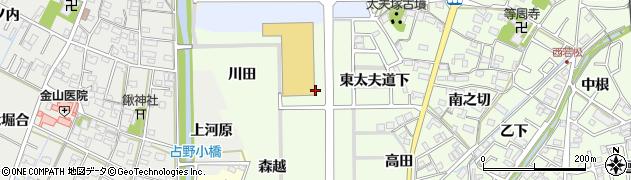 愛知県岡崎市若松町(西太夫道下)周辺の地図
