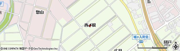 愛知県安城市城ケ入町(西ノ根)周辺の地図