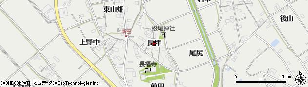 愛知県岡崎市竜泉寺町(長拝)周辺の地図
