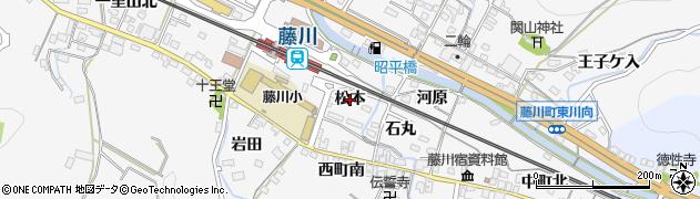 愛知県岡崎市藤川町(松本)周辺の地図