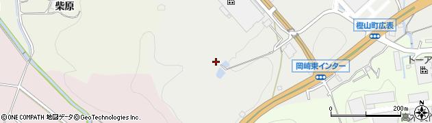 愛知県岡崎市樫山町(山ノ田)周辺の地図