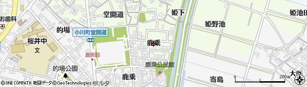愛知県安城市姫小川町(鹿乗)周辺の地図