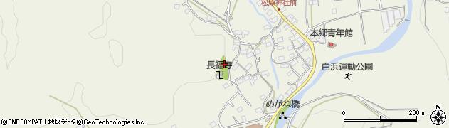 千葉県南房総市白浜町滝口周辺の地図