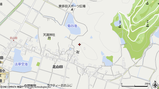 〒679-2112 兵庫県姫路市山田町北山田の地図