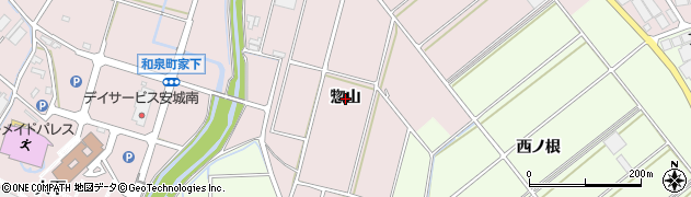 愛知県安城市和泉町(惣山)周辺の地図
