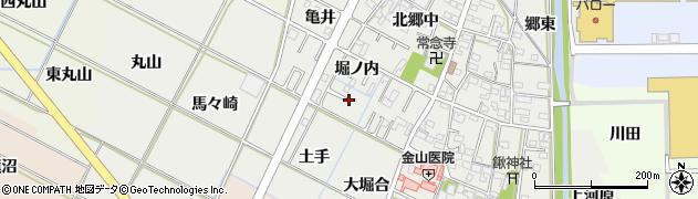 愛知県岡崎市野畑町周辺の地図