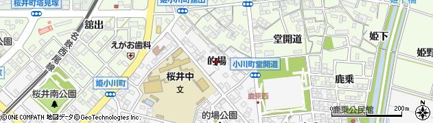愛知県安城市小川町(的場)周辺の地図