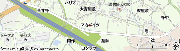 愛知県岡崎市牧平町(マカヾイツ)周辺の地図