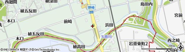 愛知県知多郡阿久比町植大前崎周辺の地図