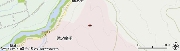 愛知県新城市市川(滝ノ輪手)周辺の地図