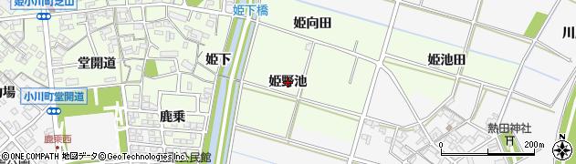 愛知県安城市姫小川町(姫野池)周辺の地図