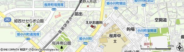 愛知県安城市姫小川町(北門原)周辺の地図