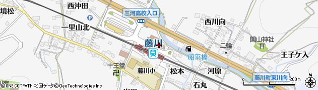 愛知県岡崎市藤川町(田中)周辺の地図