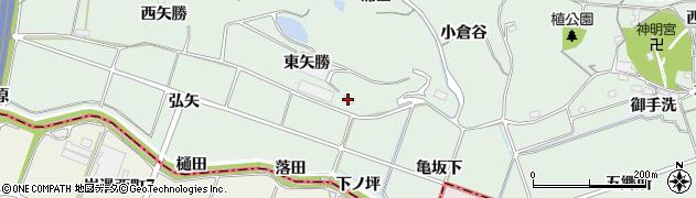 愛知県知多郡阿久比町植大東矢勝周辺の地図