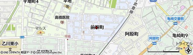 愛知県半田市前田町周辺の地図
