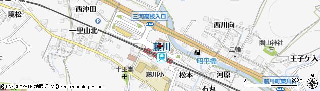愛知県岡崎市藤川町周辺の地図