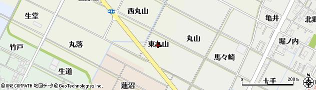 愛知県岡崎市土井町(東丸山)周辺の地図