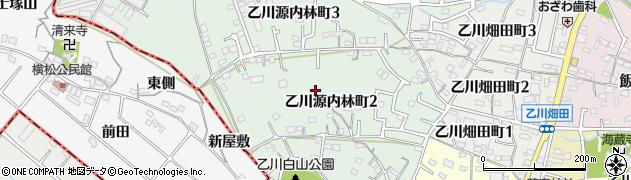 愛知県半田市乙川源内林町周辺の地図
