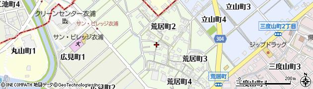 愛知県碧南市荒居町周辺の地図