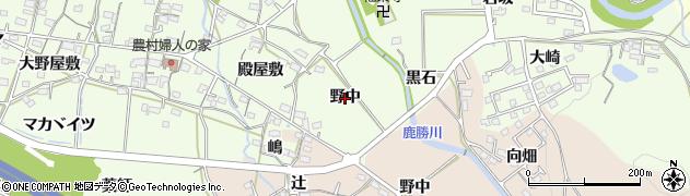 愛知県岡崎市牧平町(野中)周辺の地図