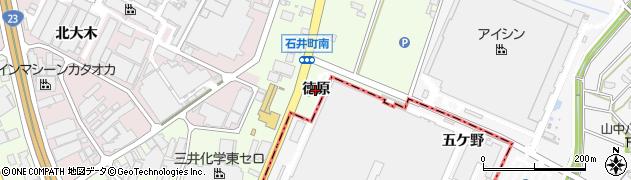 愛知県安城市石井町(徳原)周辺の地図