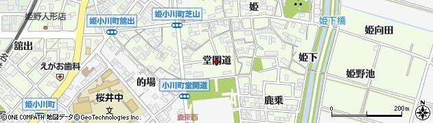 愛知県安城市姫小川町(堂開道)周辺の地図