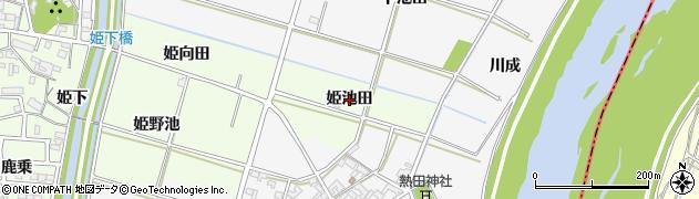愛知県安城市姫小川町(姫池田)周辺の地図